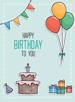 Conception de vecteur joyeux anniversaire pour cartes de voeux