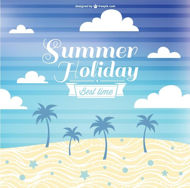 Conception vecteur libre des vacances d'été