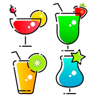 Conception de vecteur de logo cocktail and drink