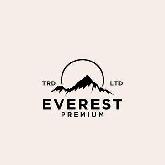Conception de vecteur de logo everest premium