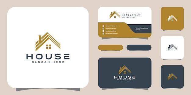 Conception de vecteur de logo de maison et carte de visite