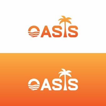 Conception de vecteur de logo oasis
