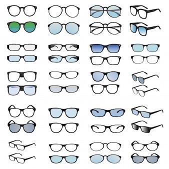 Conception de vecteur de lunettes de mode