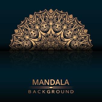 Conception de vecteur de mandala de luxe avec style arabesque doré