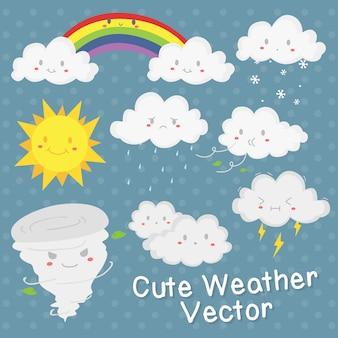 Conception de vecteur météo mignon
