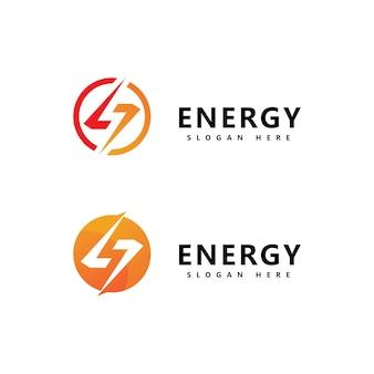 Conception de vecteur de modèle d'icône de logo d'énergie