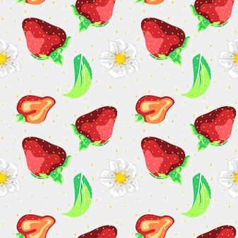 Conception de vecteur de modèle sans couture aux fraises