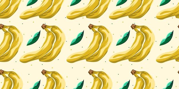 Conception de vecteur de modèle sans couture de banane