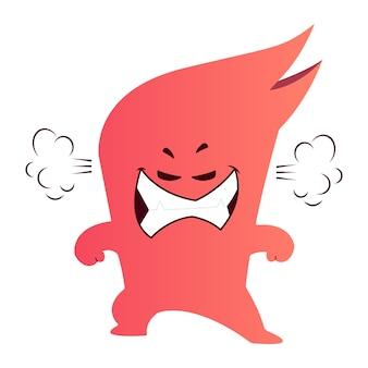 Conception de vecteur de monstre frustré / en colère