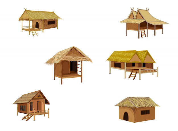 Conception de vecteur de paille hut