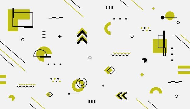 Conception de vecteur de papier peint de formes géométriques