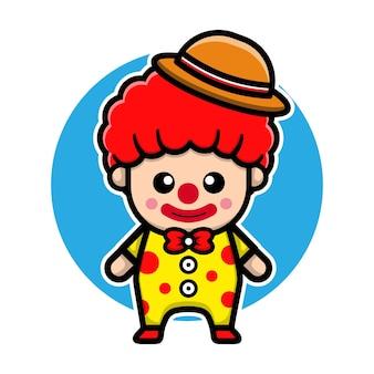 Conception de vecteur de personnage de clown mignon