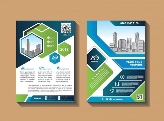 Conception de vecteur pour catalogue de couverture brochure brochure et dépliant