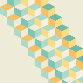 Conception de vecteur pour le style pastel fond cubique