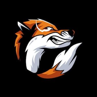 Conception de vecteur de renard en colère