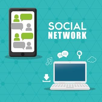 Conception de vecteur de réseau social