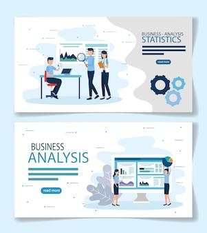 Conception de vecteur de statistiques d'analyse commerciale