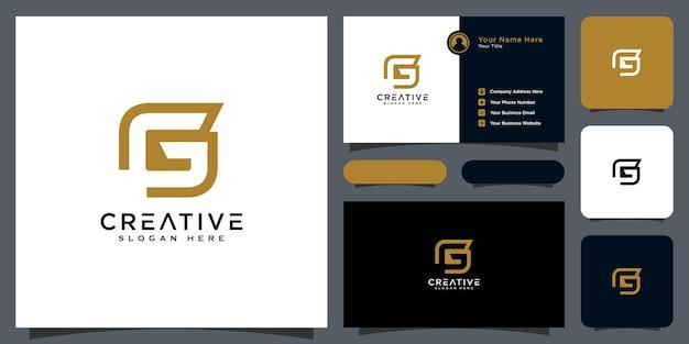 Conception de vecteur de style de ligne logo lettre initiale g