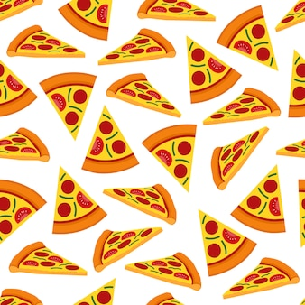 Conception de vecteur transparente motif pizza