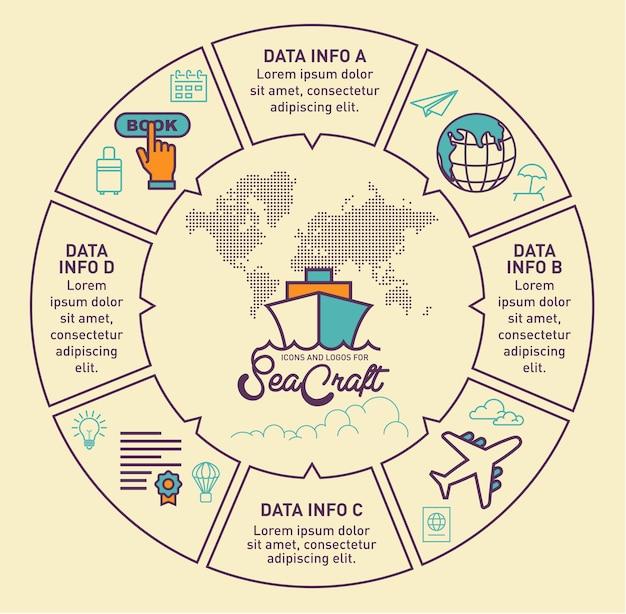 Conception de vecteur de voyage infographique