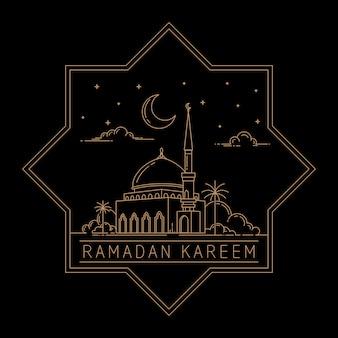 Conception de vecteurs ramadan karéem