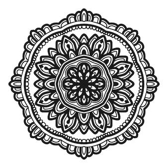 Conception de vector illustration fleur mandala