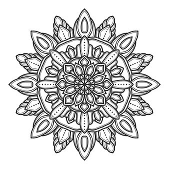 Conception de vector illustration fleur mandala