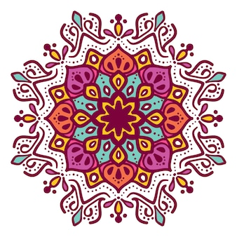 Conception de vector illustration floral mandala