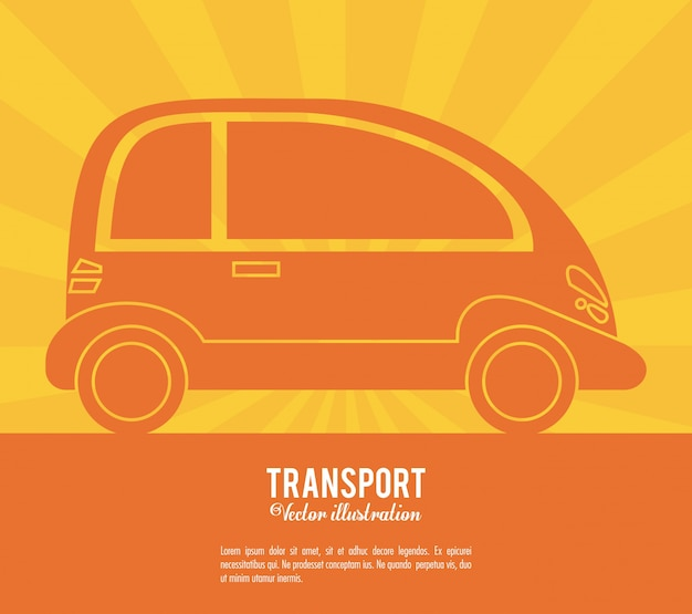 Conception de véhicule de transport future voiture