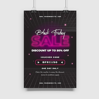 Conception de vente black friday avec un style futuriste