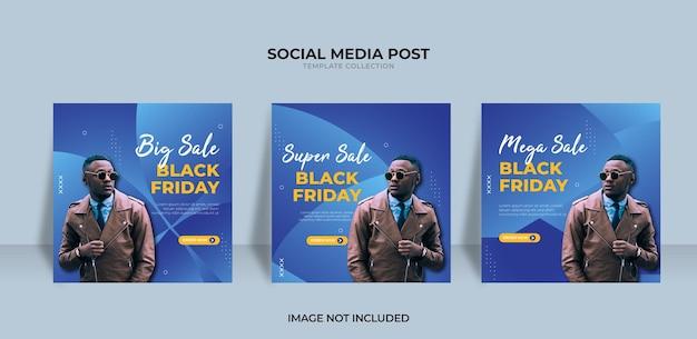 Conception de vente du vendredi noir super vente pour les médias sociaux
