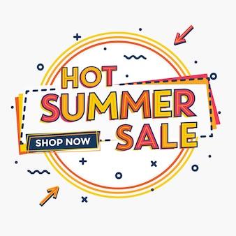 Conception de vente d'été - conception promotionnelle typographique
