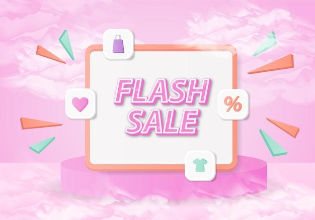 Conception de vente flash post 3d