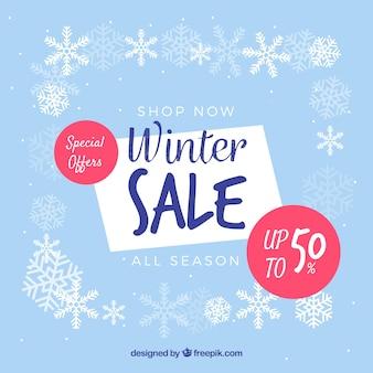 Conception de vente d'hiver décorative