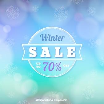 Conception de vente d'hiver floue