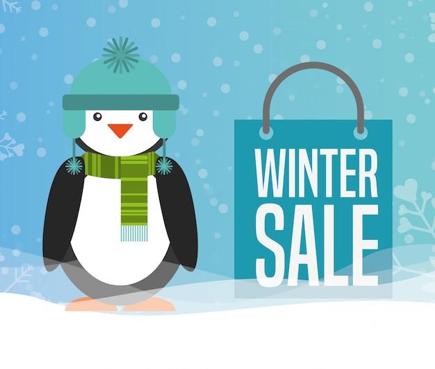 Conception de vente d'hiver