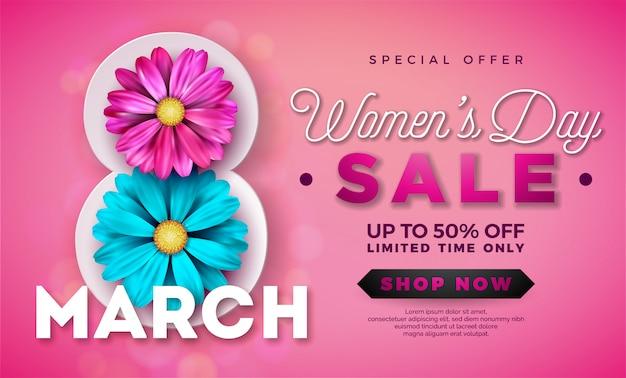 Conception de vente de la journée des femmes