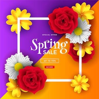 Conception de vente de printemps réaliste