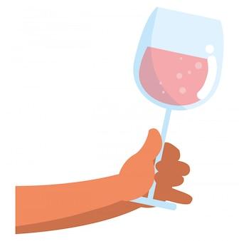 Conception de verre de champagne