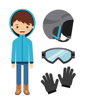 Conception de vêtements d'hiver, illustration vectorielle illustration eps10