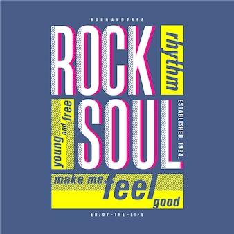 Conception de vêtements de musique rock soul