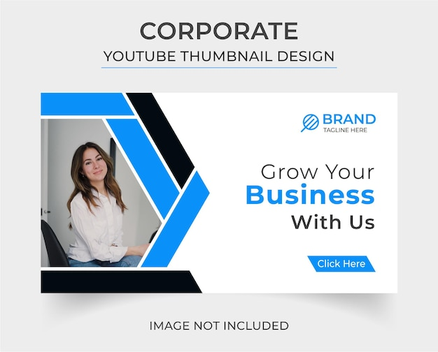 Conception de vignettes youtube d'entreprise créative