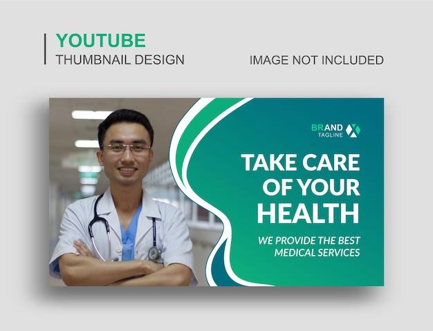 Conception de vignettes youtube médicales et modèle de bannière web
