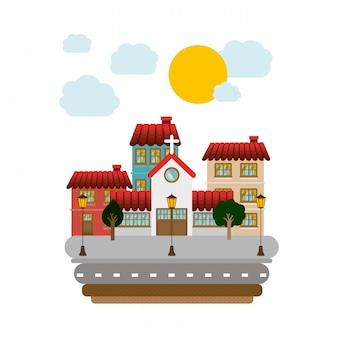 Conception de la ville, illustration vectorielle.