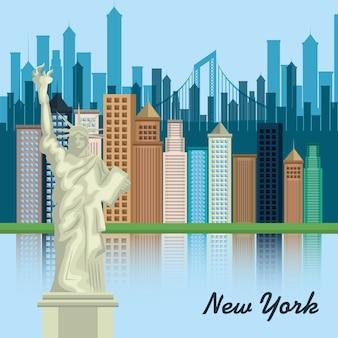 Conception de ville de new york cityscape vector illustration