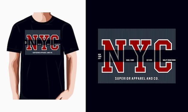 Conception de la ville de new york pour t-shirt