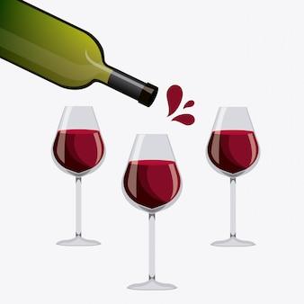 Conception de vin.
