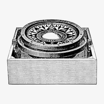 Conception vintage de boussole de marin