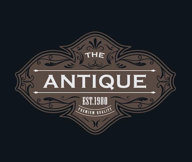 Conception vintage de cadre étiquette antique