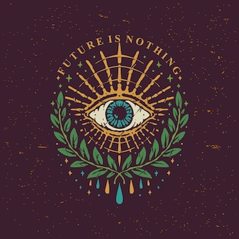 Conception vintage eyes of horus